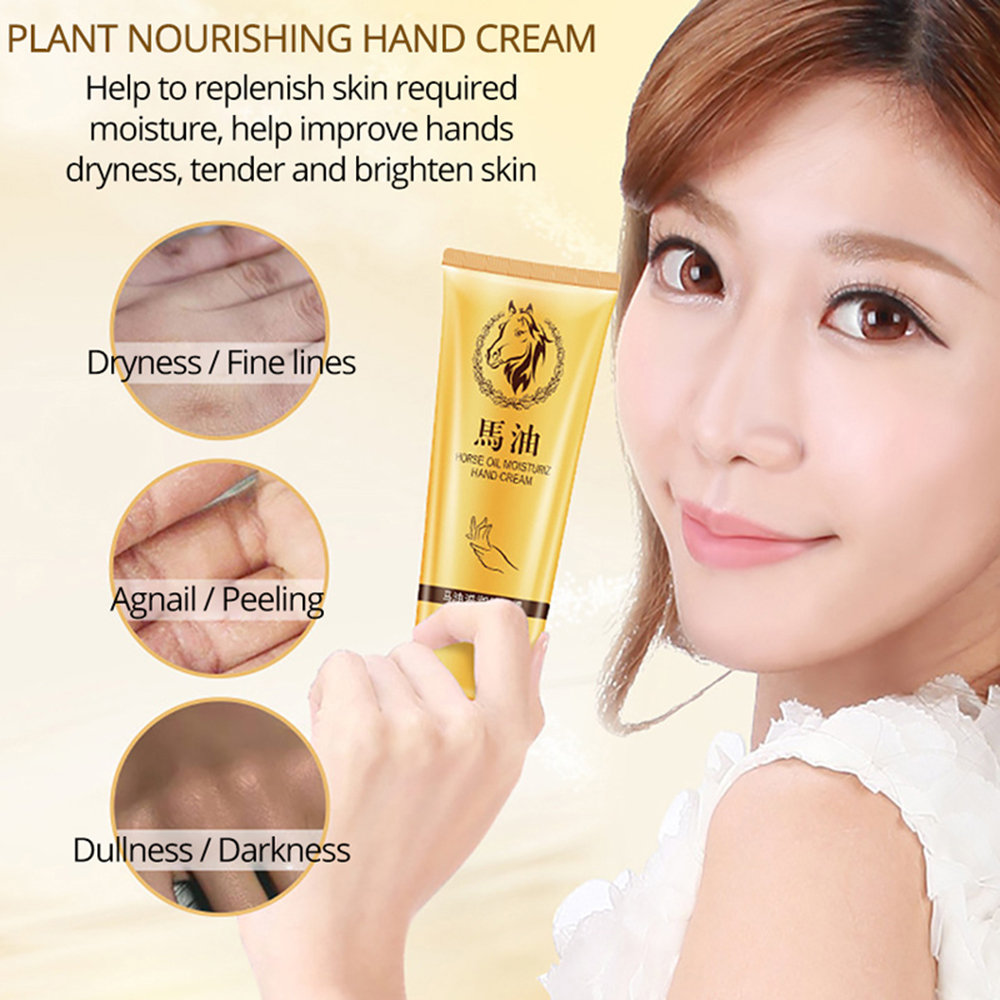 Moisturizing Repair Hand Cream Anti-Aging Horse Oil Skin Whitening Nourishing Hydrating Hand Cream Hand Care TSLM1