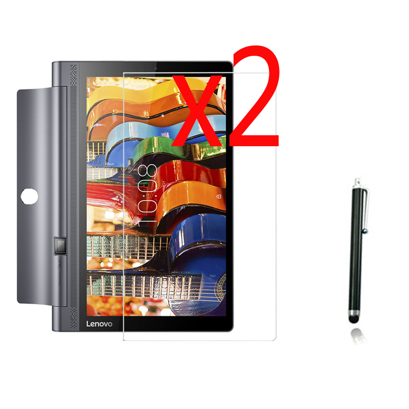 Galleria fotografica 2x films +2x cloth +1x Stylus , Matted Matte Screen Protector Protective Film Guards For Lenovo YOGA Tab 3 10 YT3-X50F X50L X50M