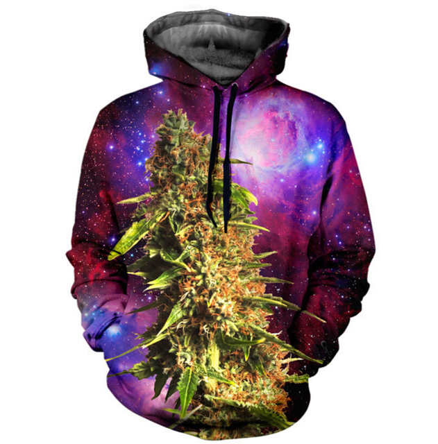 244d4f55 Harajuku 3D Galaxy hoodies print hemp blue coral under sea men/women  novelty sweatshirt casual
