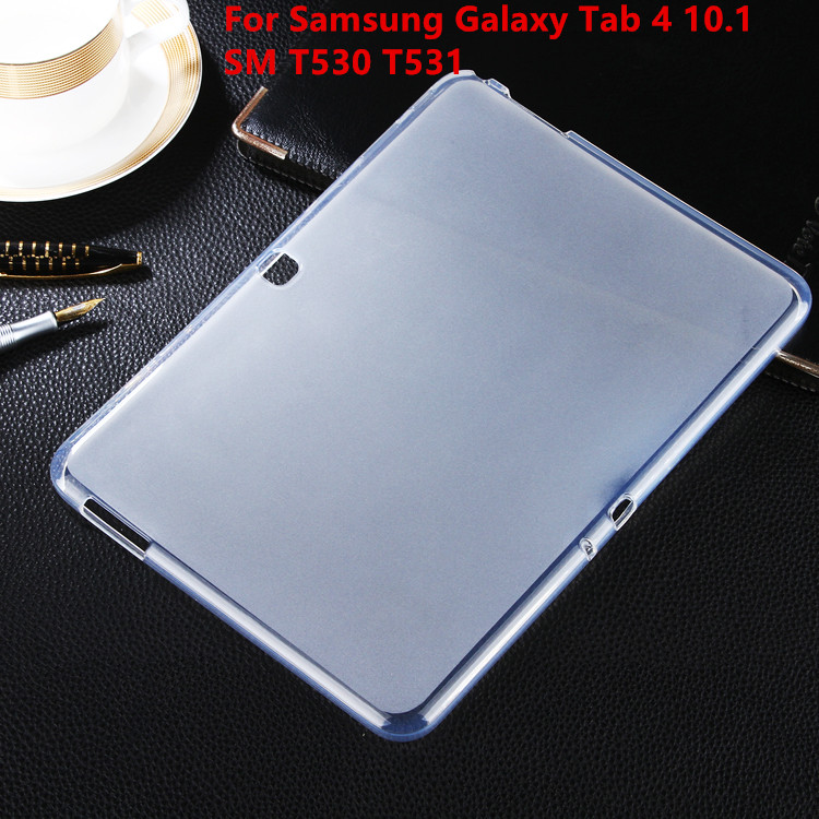 Soft Back Case Ultra Slim TPU Silicone Rubber Case Cover For Samsung Galaxy Tab4 Tab 4 10.1 SM T530 T531 Tablet case t700 soft tpu rubber cover semi transparent back case for samsung galaxy tab s 8 4 t700 t705c silicone case