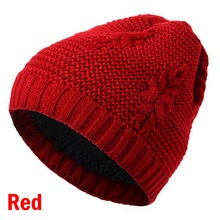 Drop shipping Adisputent Winter Warm Leaf Pattern Beanie Knit Slouchy Thick Skull Cap For Men And Women Fashion warm knit hat men s winter thick warm cable knit beanie hat 100% handmade cap