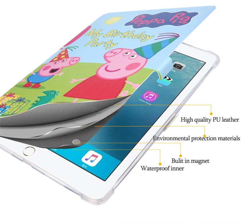 Case For New Ipad Pro 10.5 A1701`A1709 PU Leather Smart Awake Sleep Cover Stand Colorful Print 10.5'' Soft TPU Back Shell Skin