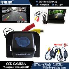 Fuwaydawireless Цвет ПЗС автомобиля заднего вида Камера для 2012 Toyota Prius + 4.3 дюймовый складной ЖК-дисплей TFT Мониторы Парковка Водонепроницаемый HD