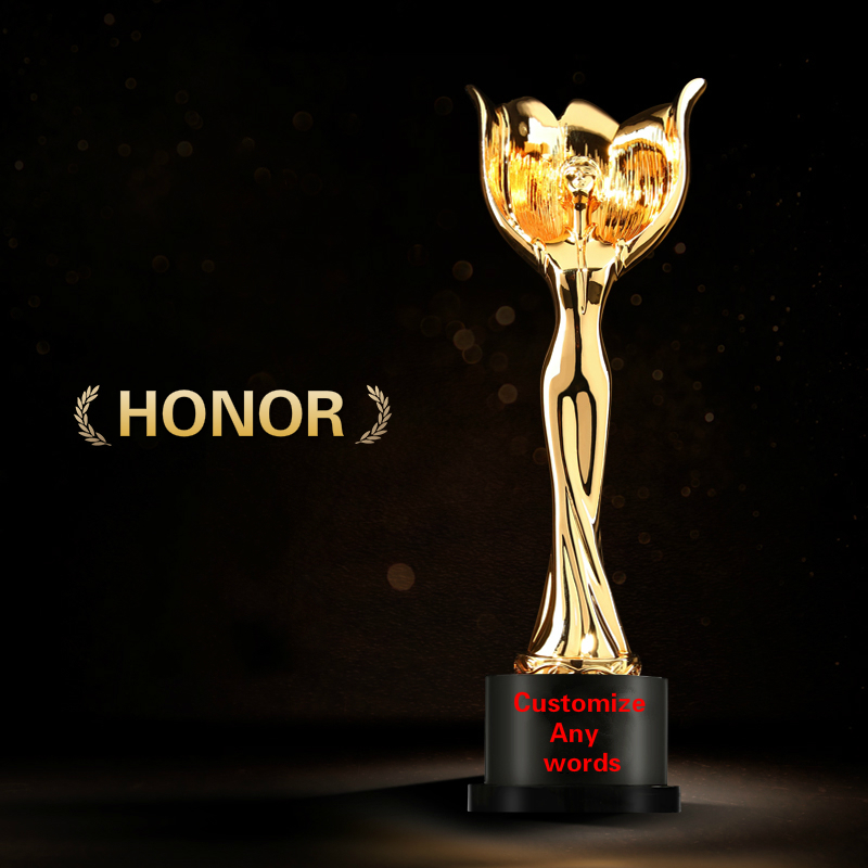 Best Souvenir Statuette Free Custom Lettering Team Company Brilliant Contribution Competition Winner Awards Champion Trophy Cup