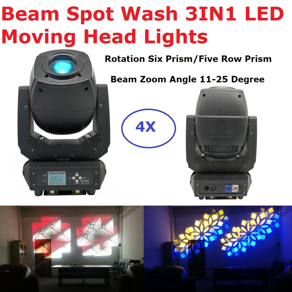 Free Shipping LED 230W Beam Spot Wash 3IN1 LED Moving Head Lights Rotation Six Prism/Five Row Prism Dj Party Stage Effect Lights