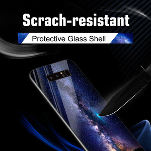 Image 3 - Tempered Glass Case For Samsung Galaxy S10 Cases Star Space Fundas  Samsung Note 20 Ultra S20 10 Lite S8 S9 Plus S10e 8 Covers