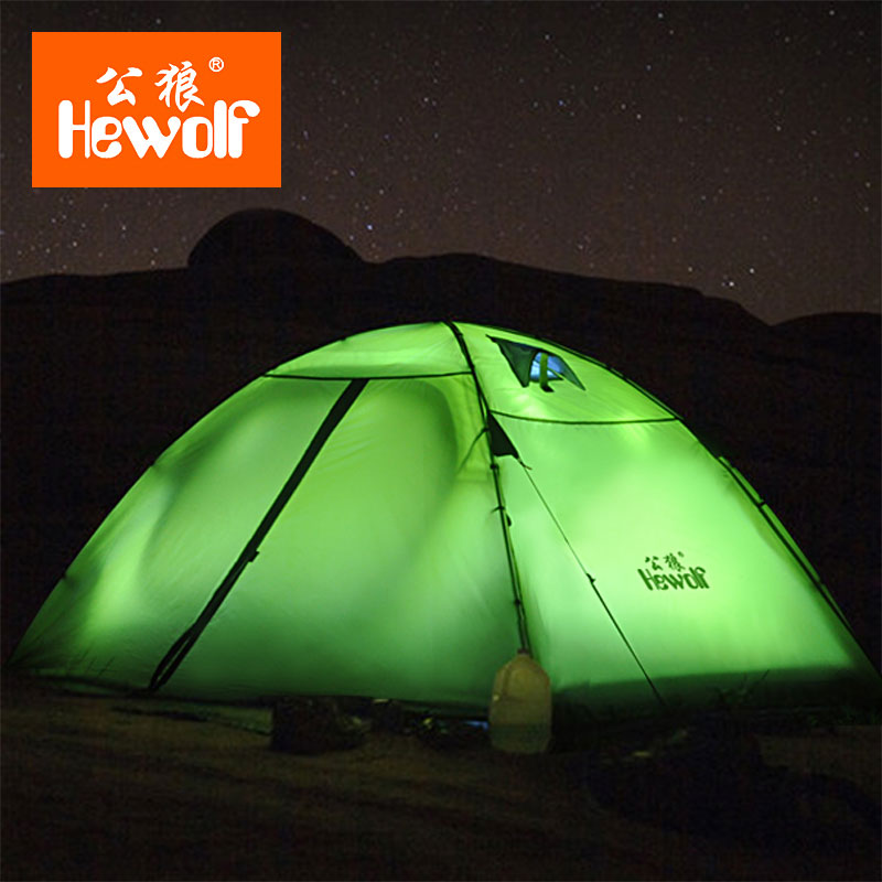 TNT Free Shipping :Hewolf Brand Outdoor supplies double camping tents rain professional camping mountaineering equipment tents laputa new car tent canopy manufacturers selling outdoor equipment automotive supplies camping tents for family