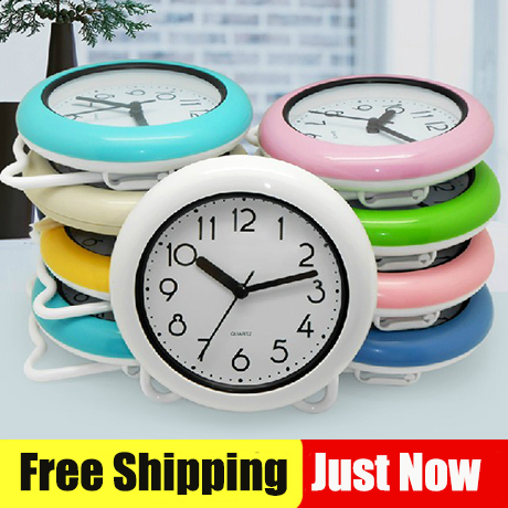Free Shipping Bathroom Waterproof Clocks Shower 8 Inch Wall With Table Stander Two Functions