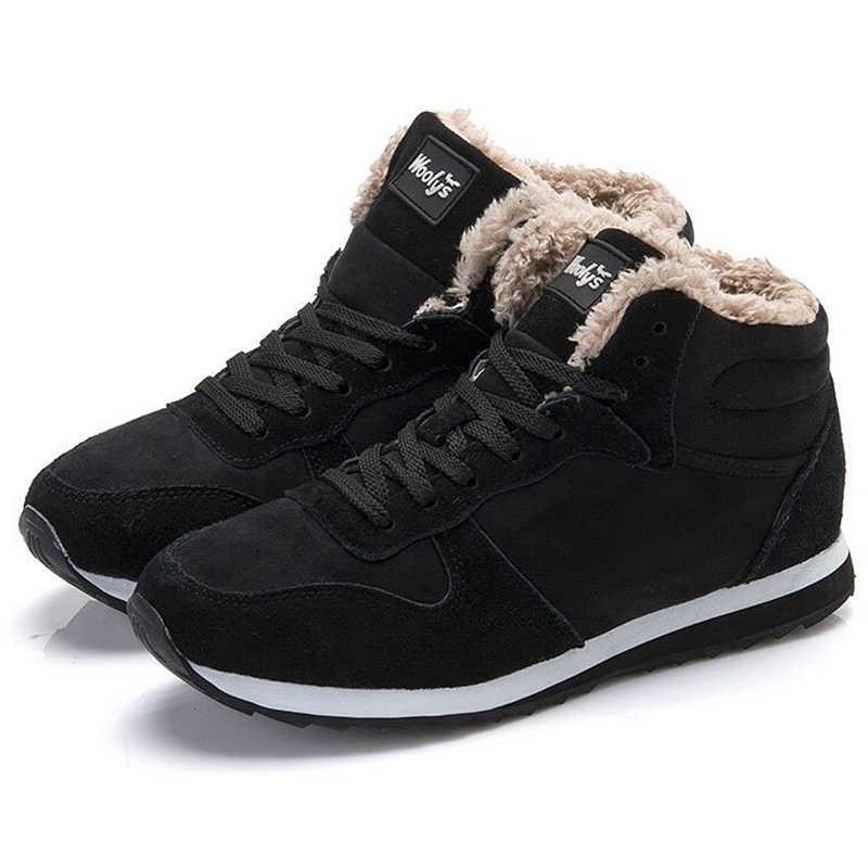 Erkek botları kış sıcak kürk kar botları erkekler bileğe kadar bot güvenlik ayakkabıları erkek spor ayakkabı Bota Masculina erkekler için kış çizmeler iş ayakkabısı