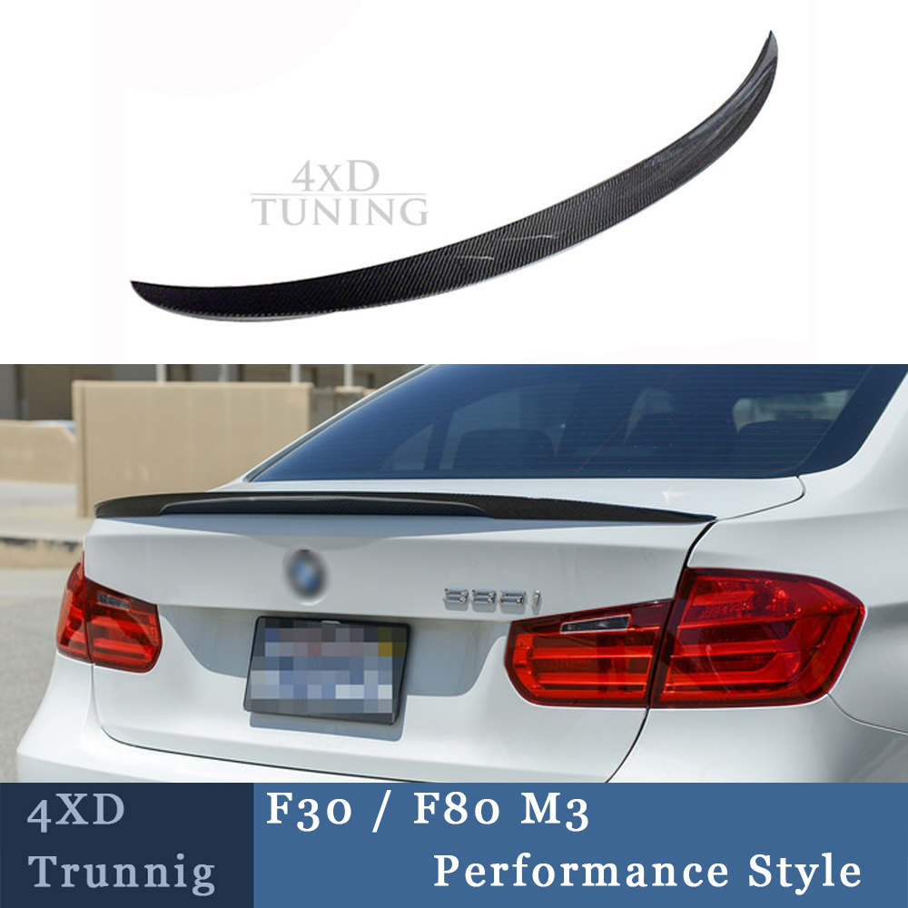 For BMW F30 M Performance Spoiler 3 Series F30 316i 318i 320i 328i 335i & F80 M3 Carbon Fiber Rear Spoiler Trunk Wing 2012-2017 полуось на bmw 316i в беларуси