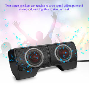 Speaker Notebook Laptop Soundbar Usb-Powered Portable for Two MP4 MP3 Mp5-Phone PS 3D