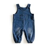 Pocket Baby Jumpsuit Soft Denim Baby Romper Solid Infant Clothes Newborn Jumpsuit Babies Boy Girls Costume