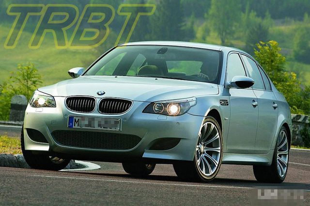 E60 M5 Body Kit Fiber Glass Front Bumper Foglight Side Skirts Rear