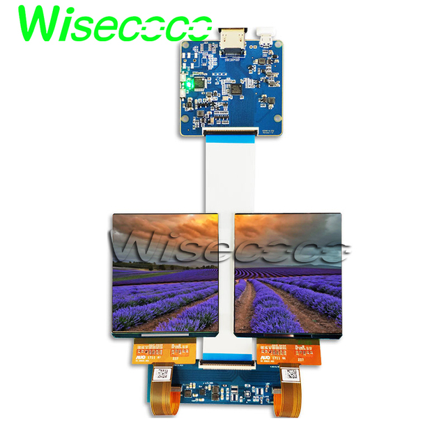HDMI MIPI board 3 81 inch 1080 X1200 dual oled AMOLED vr lcd display screen  for VR Hamlet headsets 90hz