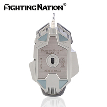Mechanical Design Gaming Illuminated Macro Mouse USB Wired 3200 DPI 8 Buttons Backlight Backlit LED Computer Mice for Pro Gamer