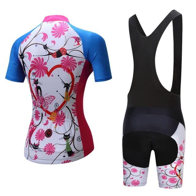 2019 Verão Mulheres MTB Bicicleta Roupas de Ciclismo Mountian Bicicleta Roupa Ropa ciclismo Quick-Seco Respirável Ciclismo Jersey Conjuntos 3