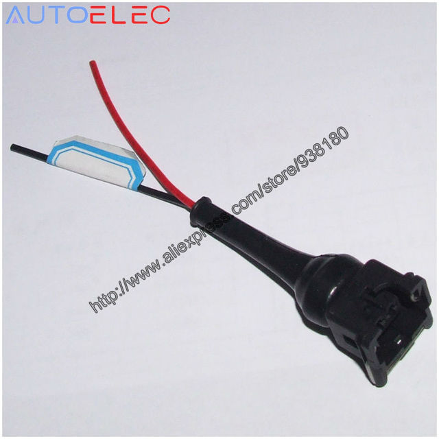 100pcs ev1 electrical pigtail adapter fuel injector sensor plug connector wiring  harness for ev1 pre wired with boot 2 pin