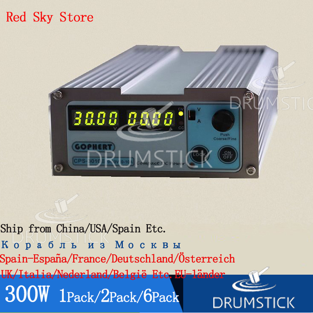 (1PACK) Gophert CPS 3010II 300W Digital DC Power Supply CPS 3010 Adjustable 0 30V 5V 12V 15V 24V 0 10A Lockable 110V/220V