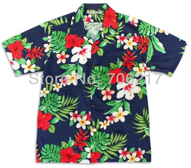 a304f6a4 Cotton Aloha Shirt Short Sleeved Free Shipping Irregular Geometric Drawing  Printed Hawaii Retail and Mix Order