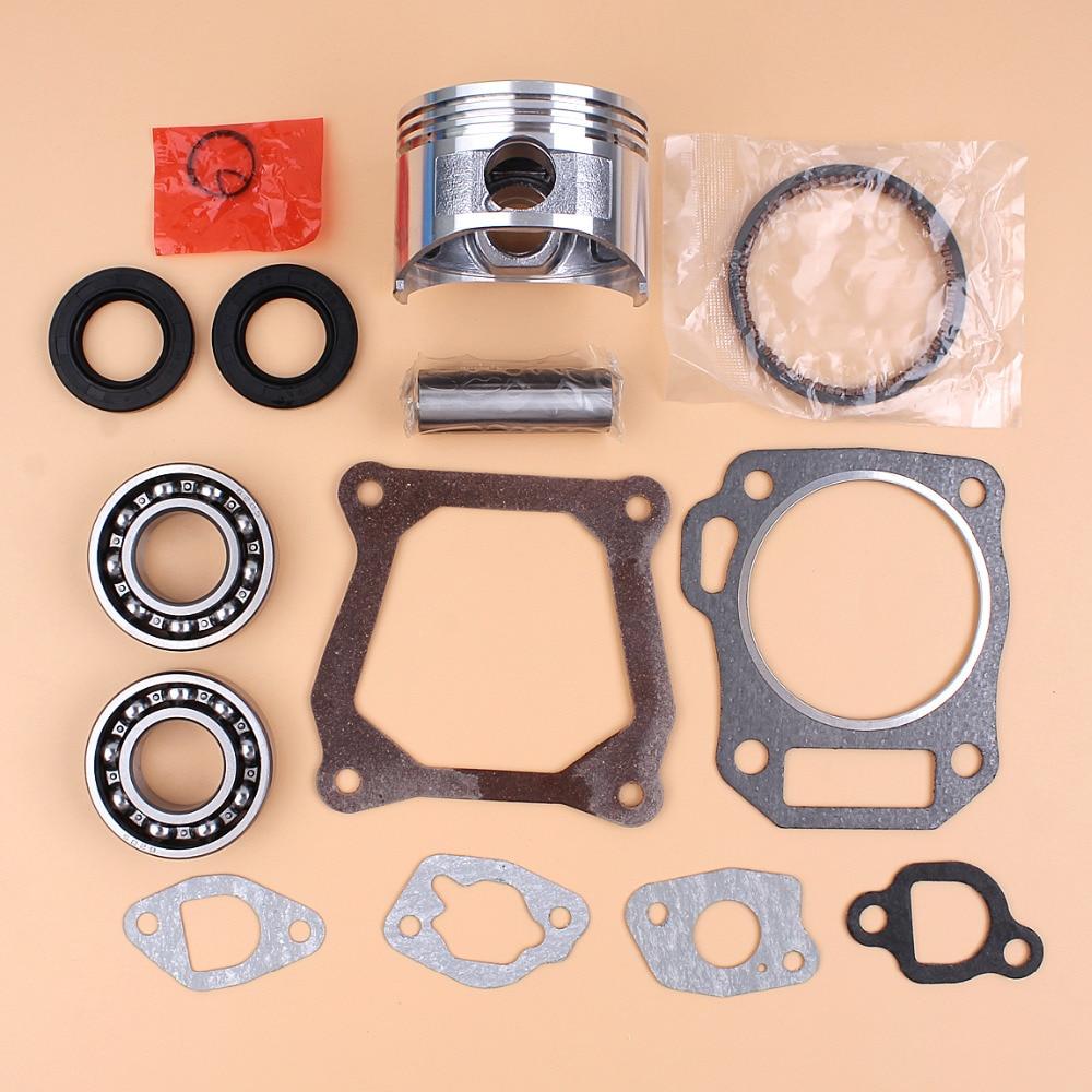 68mm Piston Rings Bearing Oil Seal Gasket Set For HONDA GX160 GX 160 Chinese 168F Engine Motor Generator Water Pump Lawn Mowers