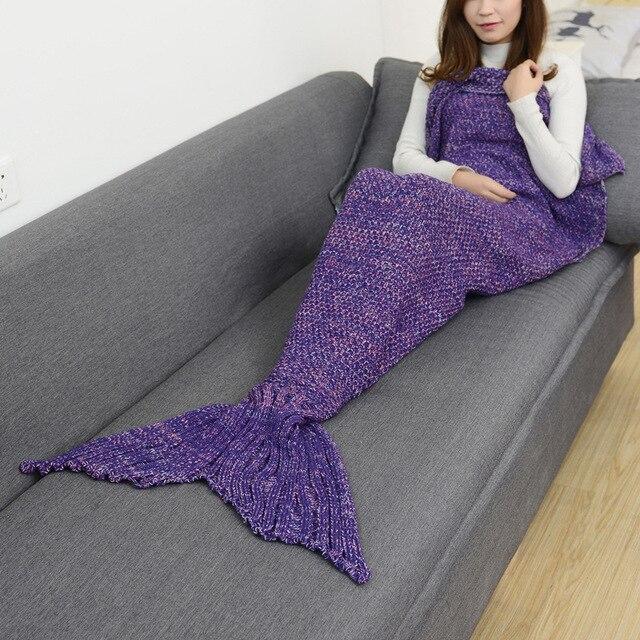 Mermaid Tail Shape Blanket 2