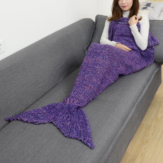 14 Colors Mermaid Tail Blanket