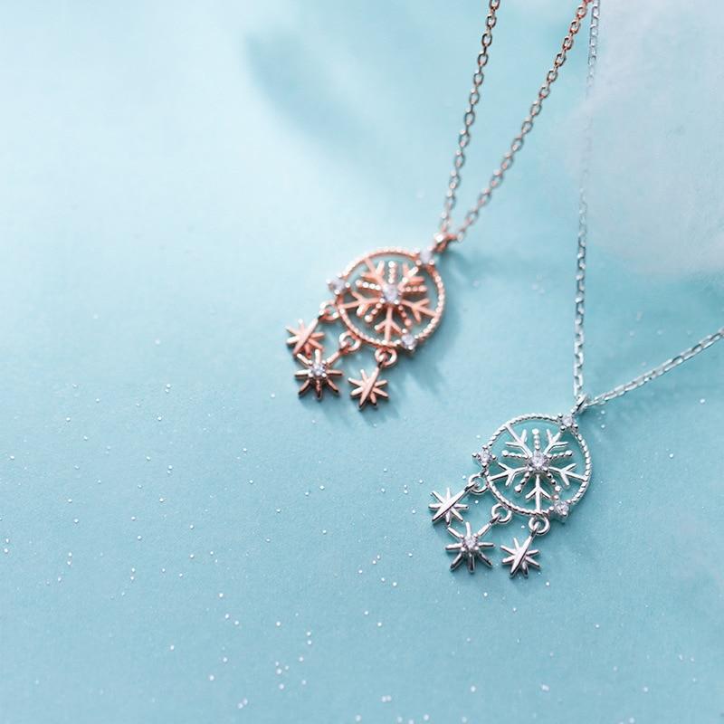 Korea Star Choker 925 Silver Necklace Kolye Gold Pendant Charm Minimalism Vintage Boho Bijoux Femme Collier Necklace for Women