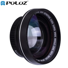 PULUZ DLP0064 For Go Pro Accessories 37mm 0.65X Super Wide Angle Lens with Macro Lens for GoPro HERO4 Session HERO 4 3+ 3