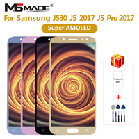 Super AMOLED For Samsung Galaxy J5 2017 J530 LCD Touch Screen Digitizer For Galaxy J5 pro J530F J530FM Assembly Part