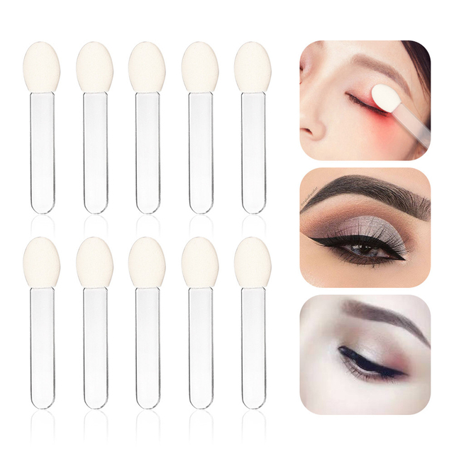 10pcs Double-Head Sponge Eye Shadow Eyeliner Brush Black&White Applicator Beauty Makeup Tools Foundation Makeup Brushes Tool Set 1