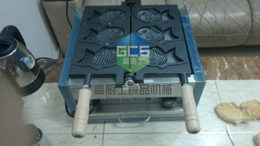 Бесплатная доставка 110 В/220 В электрический 3 шт. рыбы Taiyaki производитель машина с рецепт рыба вафельница закуски оборудование