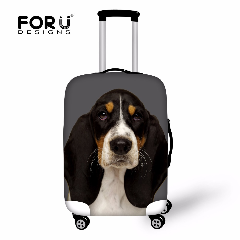 FORUDESIGNS Travel Accessories 3D Dog Printing Luggage Covers Spandex Elastic Luggage Protector For 18-30Inch Suitcase Wholesale