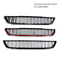Front Bumper Lower Air Guide Vents Grille Grills Car Spoiler For Volkswagen VW Jetta MK6 VI Sagitar Tuning To Honeycomb GLI Look