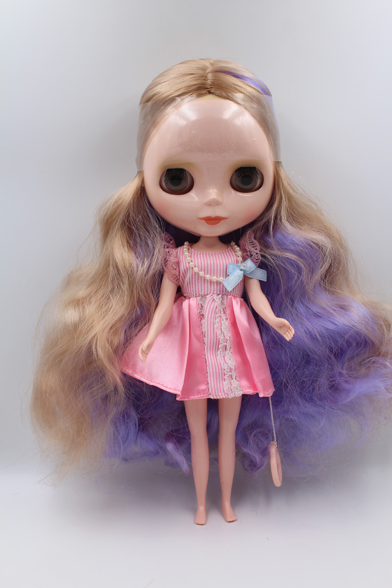 Фотография Free Shipping big discount RBL 11-15 DIY Nude Blyth doll birthday gift for girl 4 colour big eyes with beautiful Hair cute toy