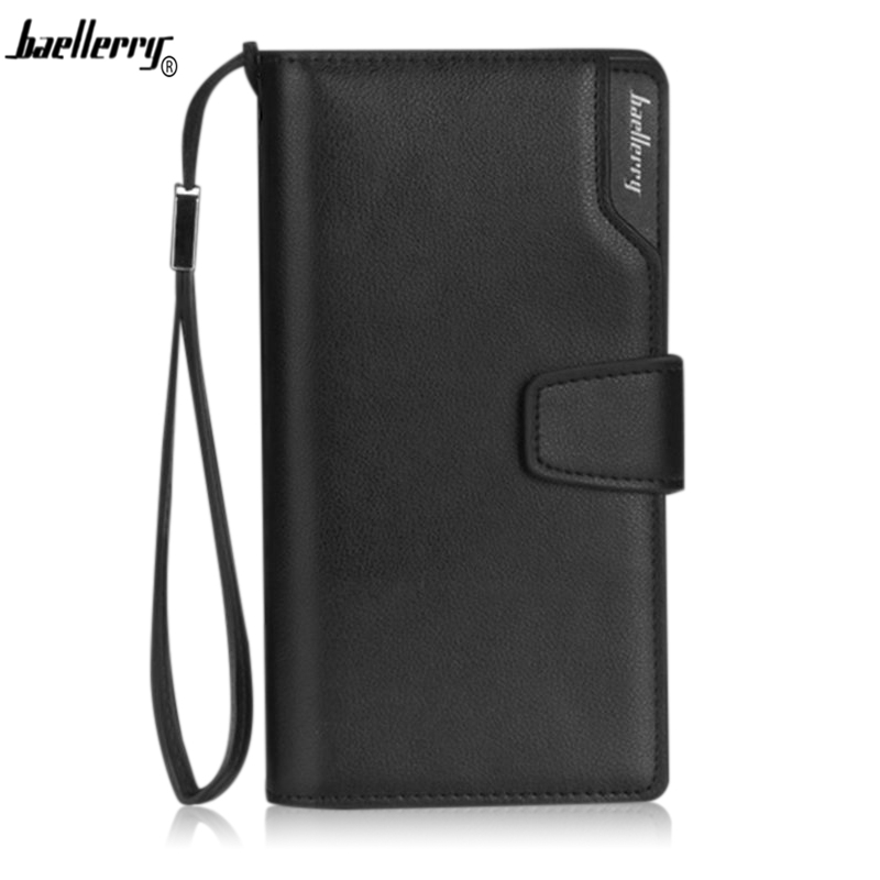 Baellerry Men Wallet Long High Quality Genuine Leather Male Clutch Zipper Walllets Big Capacity Purse Cellphone  Pocket Carteira men purse wallet brand baellerry big capacity long money cash bag portable clutch credit card holders purses carteira masculina