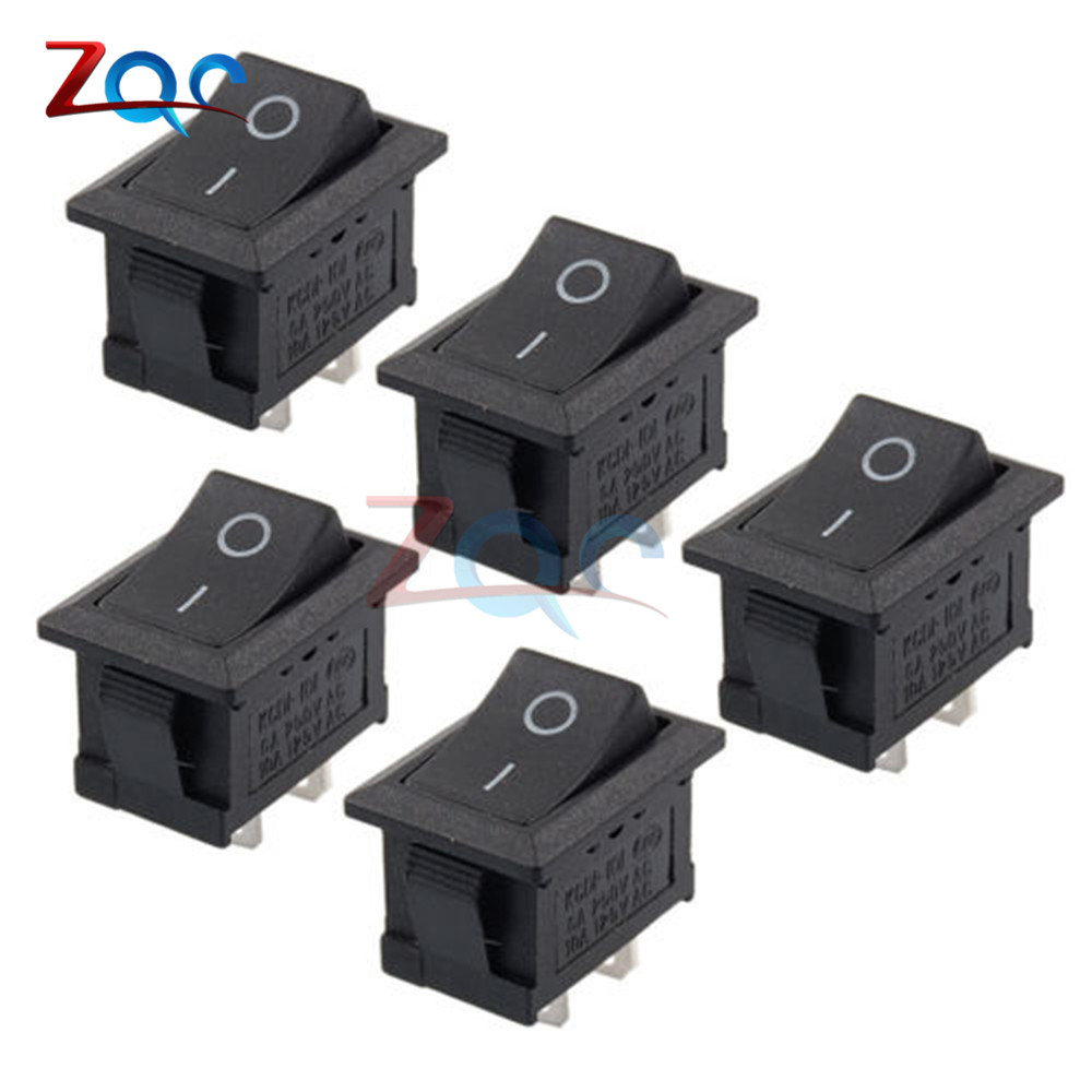 5pcs 2pin Snap In On Off Kcd1 101 Car Boat Round Rocker Toggle Spst Switch Switches Relays 125v From Lights Lighting Alibaba Group