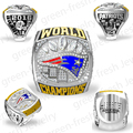 2016 NFL Drop Shiping Good Quality 2017 NFL New England Patriots Super Bowl Championship Rings size 8 9 10 11 12 13