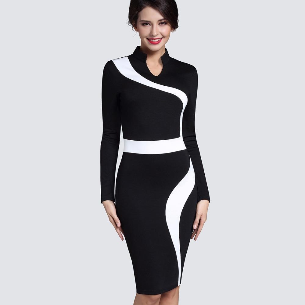 7214a5facfb86 BIG SALE] Women Elegant Business Work Office Dress Casual 3/4 Sleeve ...