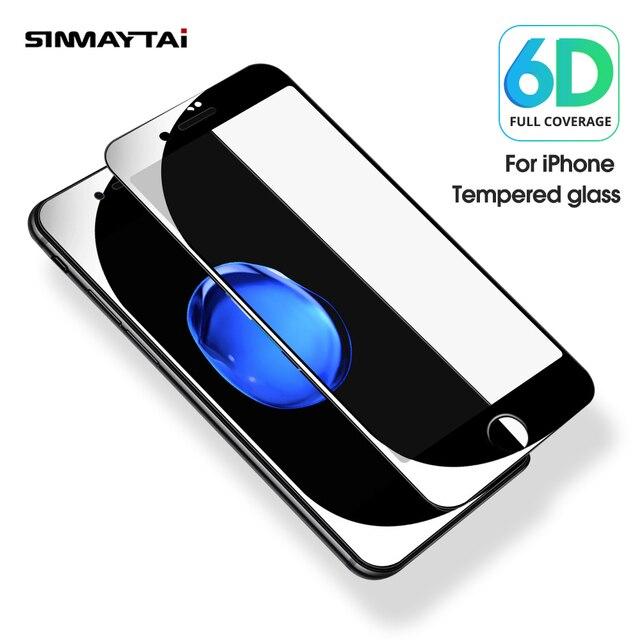 جديد 6D زجاج واقي ل فون 6 واقي للشاشة فون 8 Xr Xs Xs ماكس الزجاج المقسى على فون X 7 6 s 7 8 زائد Xs الزجاج