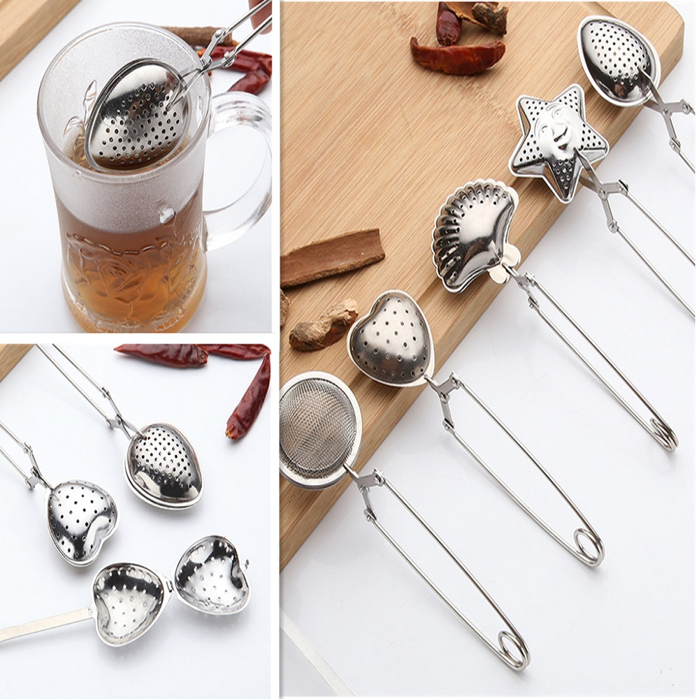 Tea Infuser Stainless Steel Mesh Tea Strainer Coffee Herb Spice Filter Diffuser Handle Tea Ball Infuser Home Kitchen Teaware