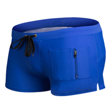 High Quality Mens Sexy Swimwear Swimsuits Boxer Shorts Trunks Swimming Surf Board Shorts Vertical zipper