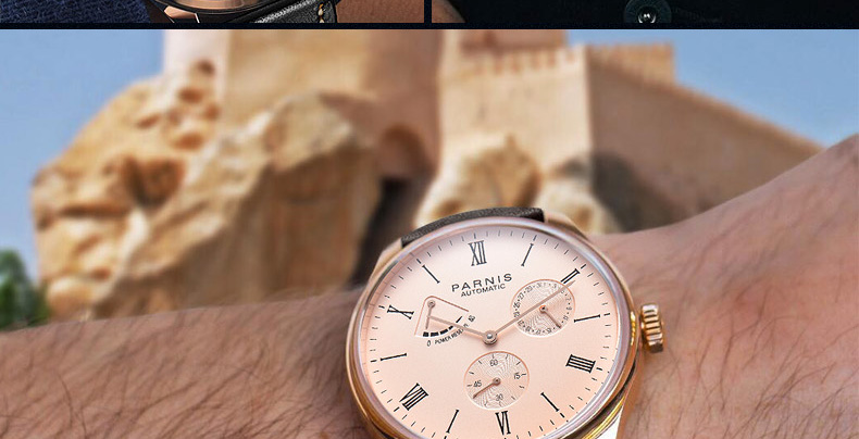 HTB11Bi MmzqK1RjSZFLq6An2XXaU 2019 Luxury Man Parnis Power Reserve Automatic Watch Mechanical Self Winding Men Watches mekanik kol saati relogio automatico