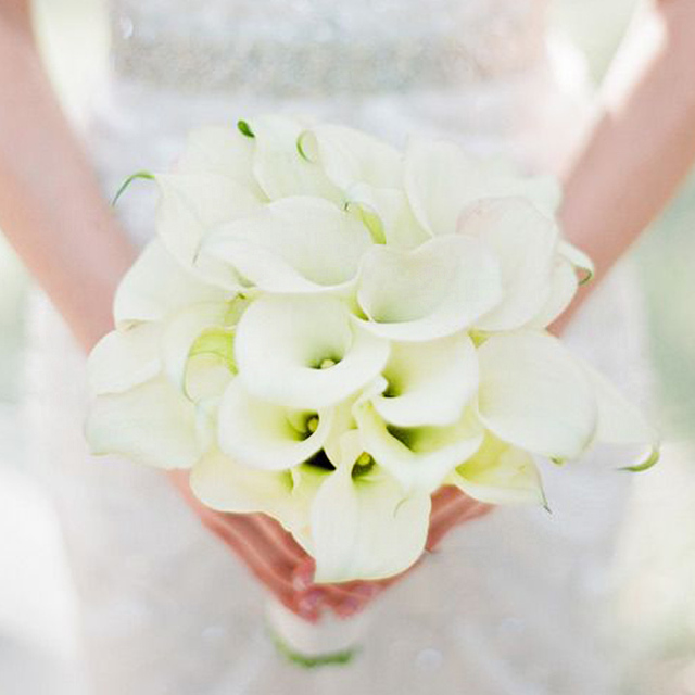 yellow calla lily wedding bouquet aliexpress buy simulation yellow white calla 1514