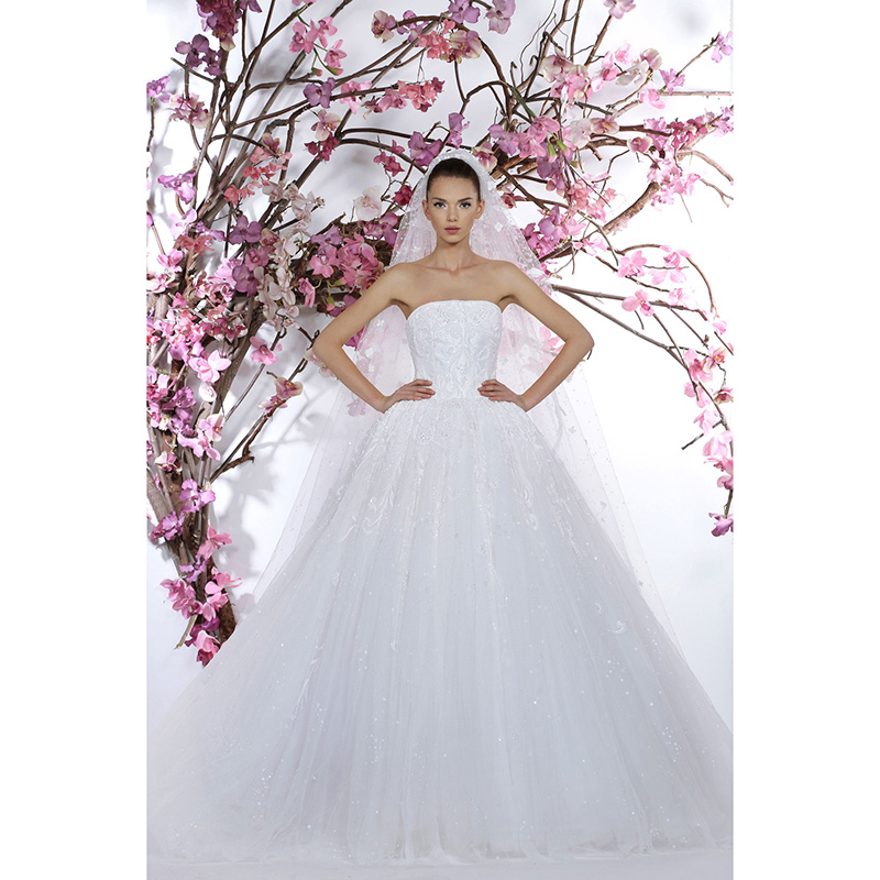 Fabulous Pure White Wedding Dresses Strapless Georges