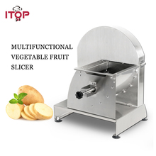 ITOP Stainless Steel Vegetable Fruit Slicers Manual Potato Tomato Carrot Cutter Machine Kitchen Accessories Commercial Use цена