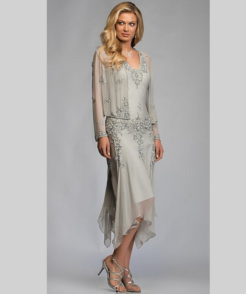 Elegant Mother of the Bride Dresses with Jacket for Weddings ...
