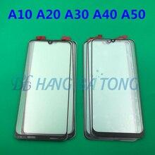 100 pcs Originele Voorpaneel Sensor LCD Display Glass Cover Lens Voor SAMSUNG Galaxy A10 A20 A30 A40 A50 A60 a70 A80 A90 2019