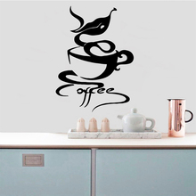 Hot Sale Coffee Wall Sticker Removable Stickers Diy Wallpaper vinyl Bedroom Nursery Decoration