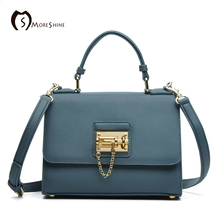 MORESHINE brand women bag with Lock genuine leather shoulder bags ladies designer crossbody bag tote Cover