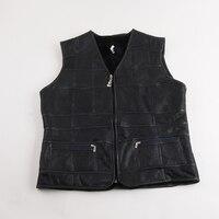 Elderly Winter Wool Liner Fur Vest Quality Real Fur Vest Warm Vest Elderly Shoulder